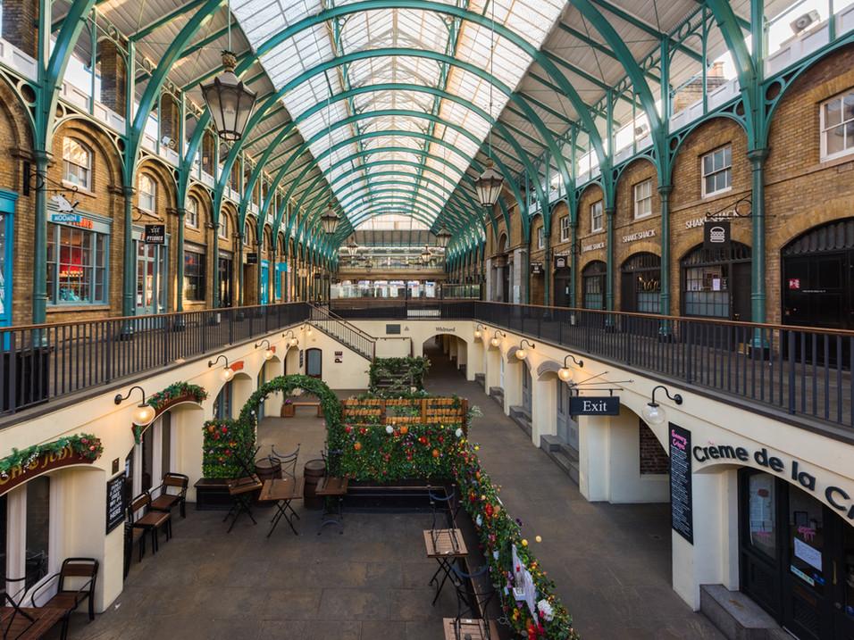 Covent Garden market, in Lockdown