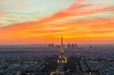 Fiery Parisian sunset.JPG