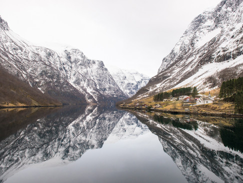 Reflections in the Norwegian fjords