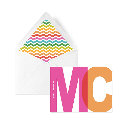 BLOCK LETTER NOTECARD