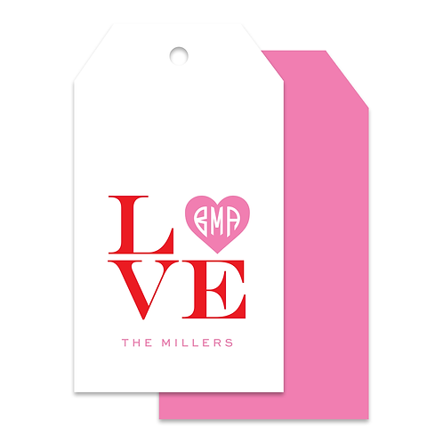 MONOGRAM LOVE TAGS