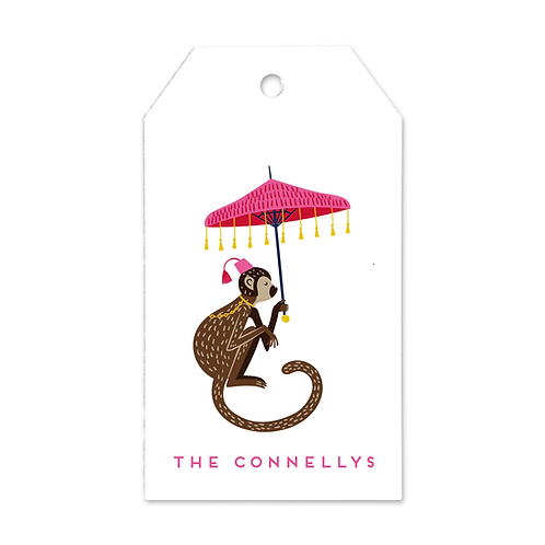 CHINOISERIE MONKEY GIFT TAGS