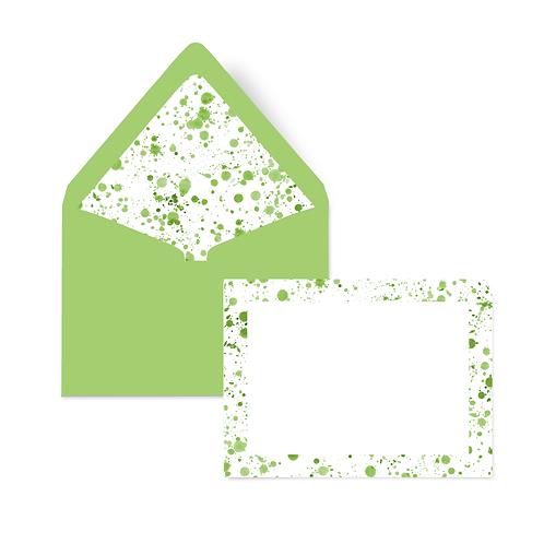 GREEN SPLATTER NOTECARD SET OF 10