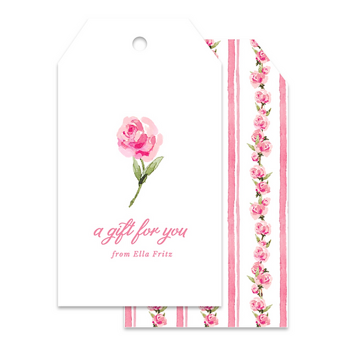 ROSE WATERCOLOR TAGS