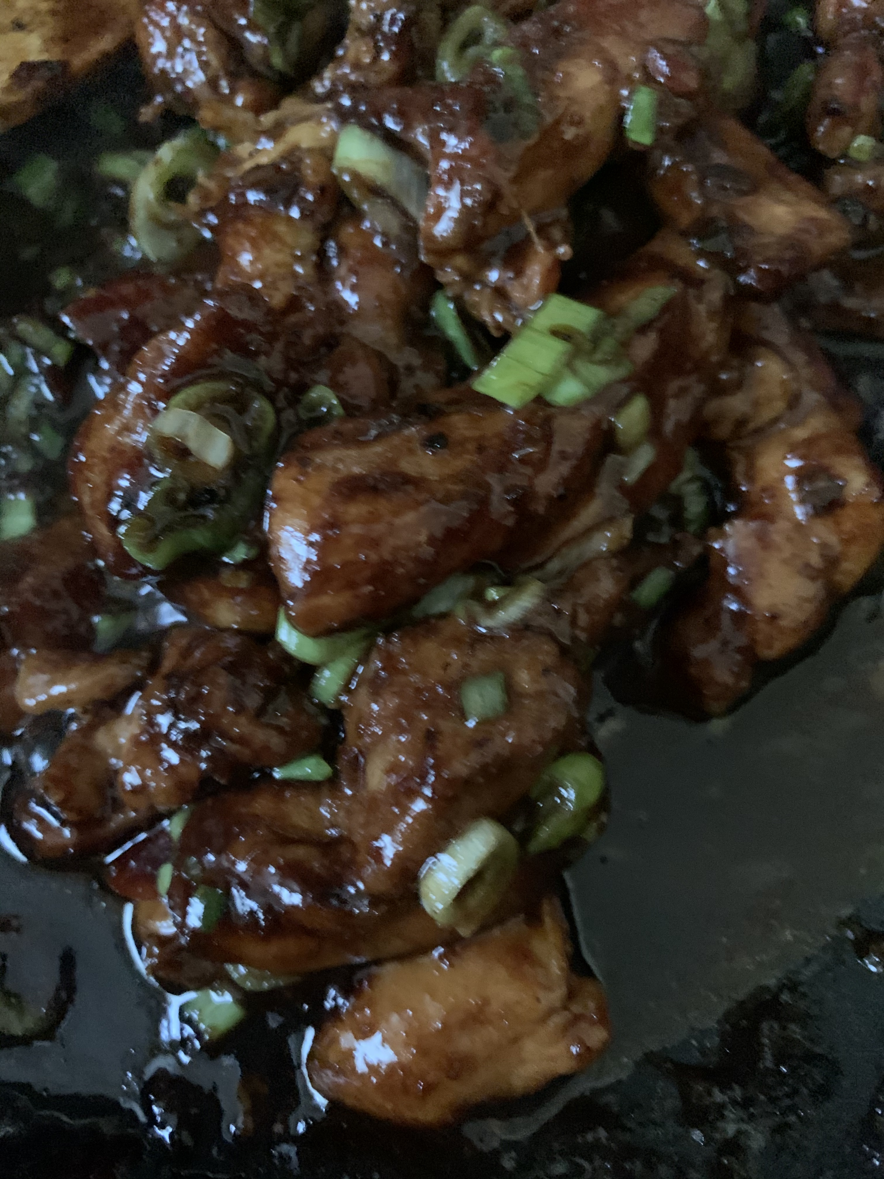 Soy Garlic Chicken with Spring Onion