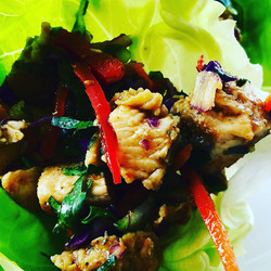 Southern Curry Chicken Lettuce Wraps