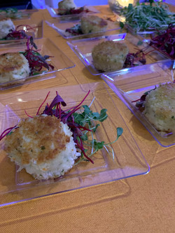 Petite Crab Cakes with Ginger Aioli