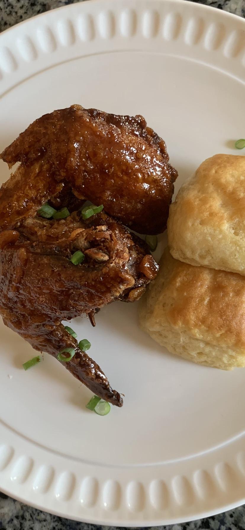 Korean Fried Chicken & Buttermilk Biscui