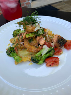 Sauteed Cajun Jerk Shrimp & Salmon serve