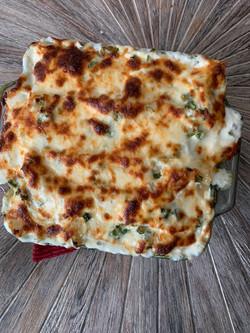 Chicken & Artichoke Alfredo Lasagna