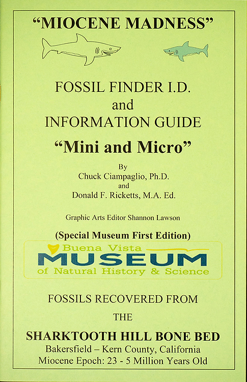 "Fossil Finder I.D. and Information Guide ""Mini and Micro"""