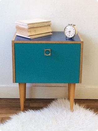 """Petit meuble bleu nuit """"Ushuaïa"""""""
