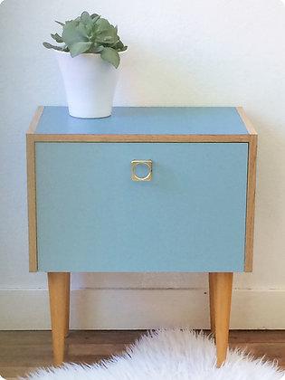 """Petit meuble bleu """"Nord"""""""