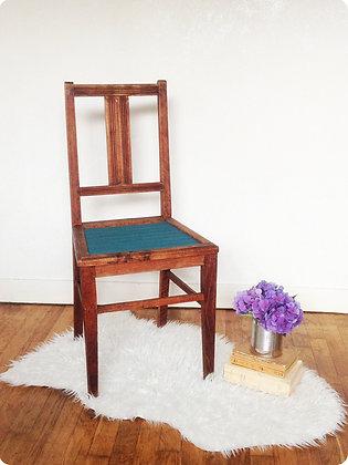 """Chaise en bois bleu pétrole """"Ontario"""""""