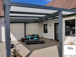 Terrassendach Heatstop Wandanbau mit Statikträger