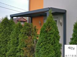 Vordach / Eingangsüberdachung Heatstop Anthrazit freistehend / selbsttragend