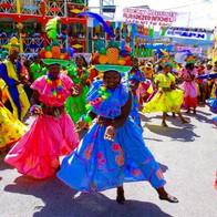 HAITIANS DANCING ON THE STREET