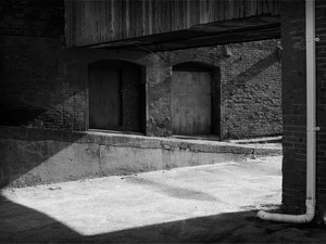 2014-01 Warehouse Downspout BW.jpg