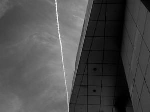 2014-07 Getty Jet Trail (Los Angeles) BW