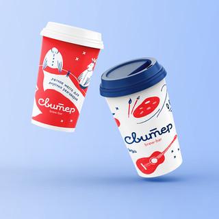 Cups design | Brand, illustration