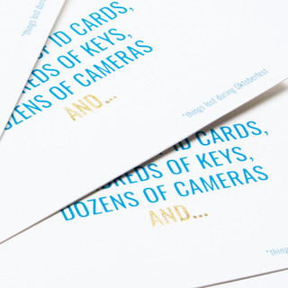 Postcards design | Type