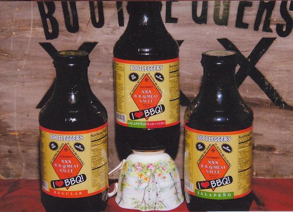 Bootleggers BBQ Jalepeno/Habanero Flavor   16 oz