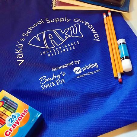 RECAP: VäKú School Supply Giveaway