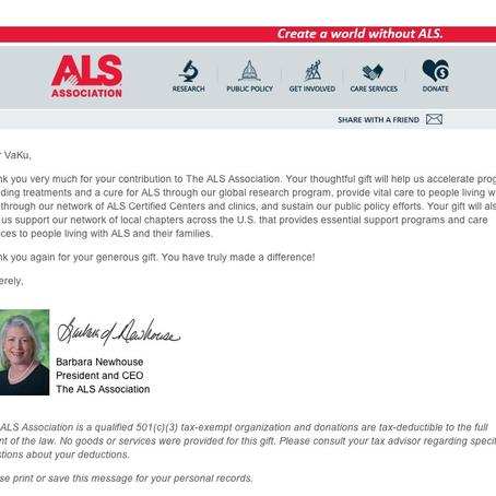 C'Ku: VaKu Donates to the ALS Association (More Than Ice!)