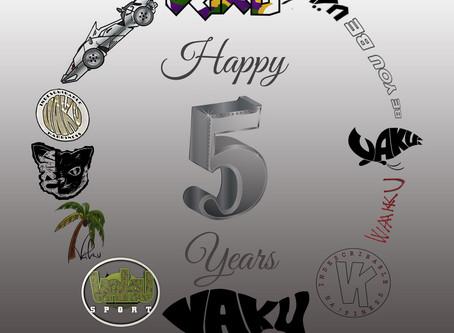 VäKú celebrates 5th Year Anniversary TODAY!