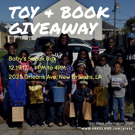 VäKú Presents: 2nd Annual Toy & Book Giveaway