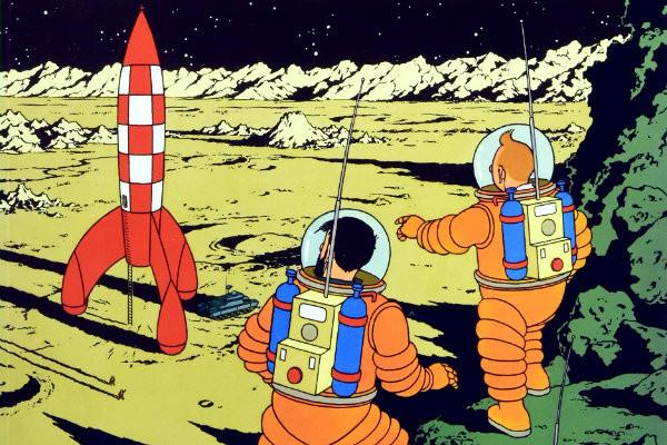 """Resenha: """"Tintim e a lua' de Hergé"""