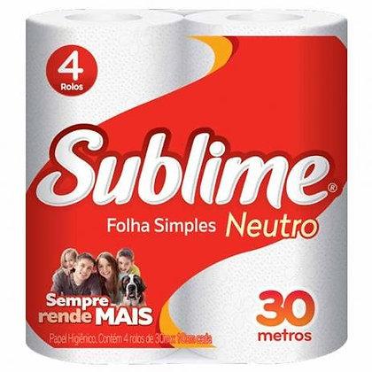 Papel higiênico - Sublime - 4 rolos