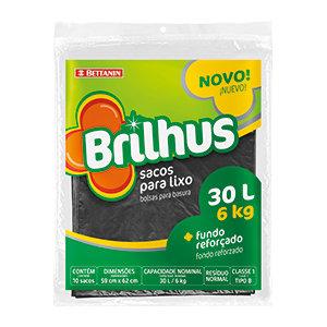 Sacos para Lixo - Brilhus - 30 litros