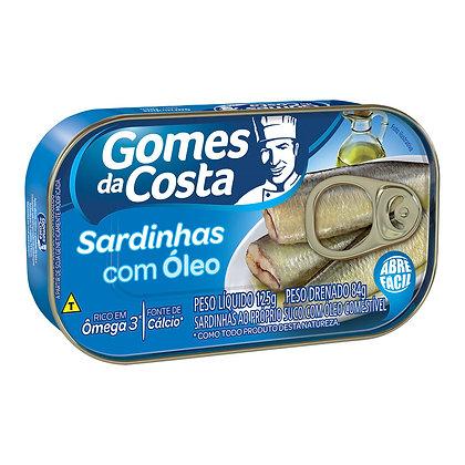 Sardinhas Com Óleo - Gomes da Costa - 125g