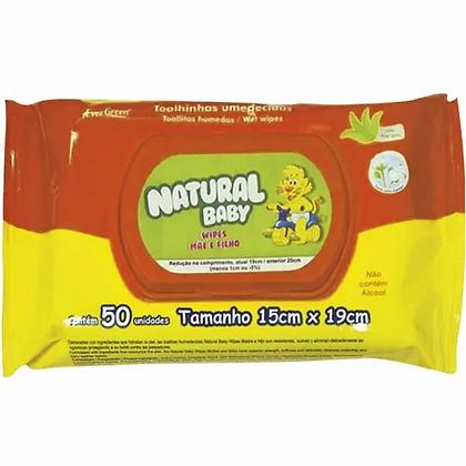 Toalhinhas Umedecidas - Natural Baby - 50 Unidades