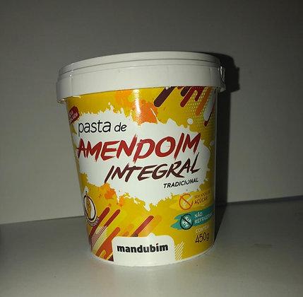 Pasta de Amendoim Integral - Mandubim - 450g