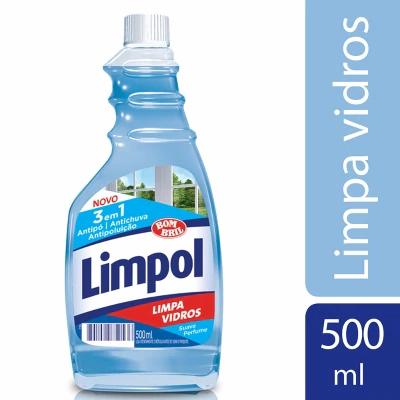 Limpa Vidros Refil - Limpol - 500ml