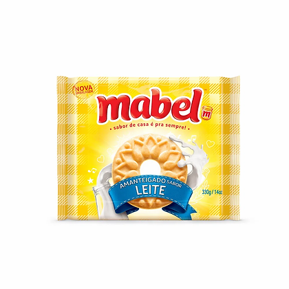 Biscoito Amanteigado - Leite - Mabel - 330g