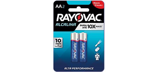 Pilhas alcalinas AA c/2 - Rayovac