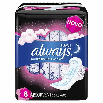 Absorventes Longos Noturno - Always - 8 Unidades