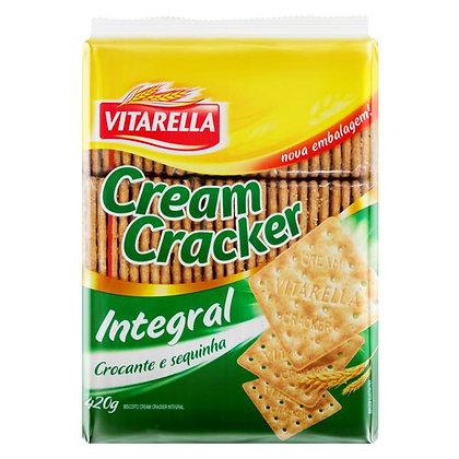 Biscoito Cream Cracker Integral - Vitarella - 420g