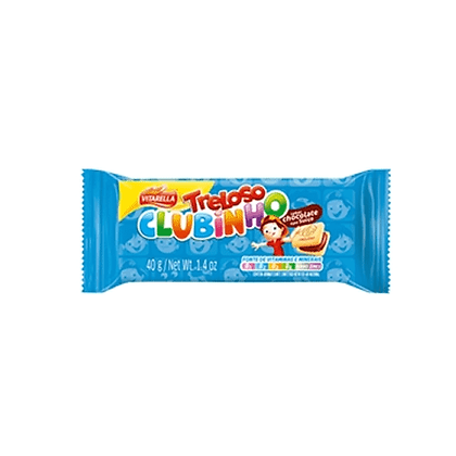 Biscoito Clubinho Chocolate - Treloso - 40g