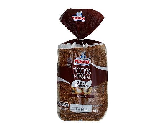 Pão de Forma - Grãos e Castanhas - Plusvita - 450g