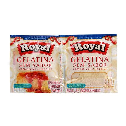 Gelatina Incolor e Sem Sabor - Royal - 12g