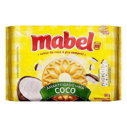 Biscoito Amanteigado - Coco - Mabel - 330g