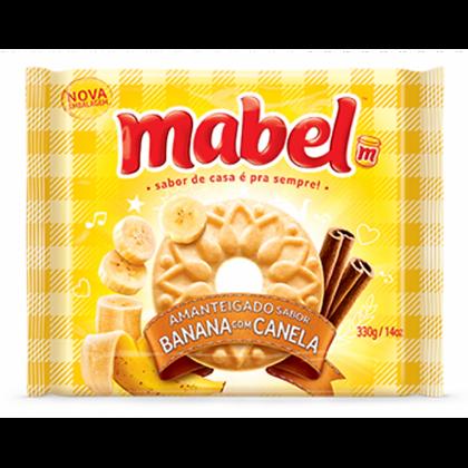 Biscoito Amanteigado - Banana c/ Canela - Mabel - 330g