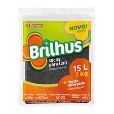 Sacos para Lixo - Brilhus - 15 litros