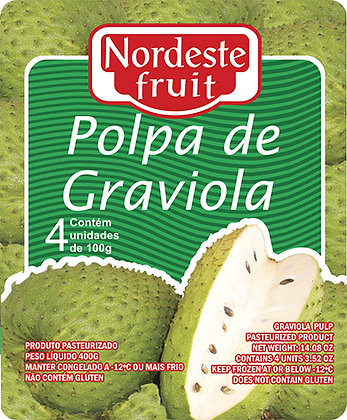 Polpa de Graviola - Nordeste Fruit - 400g