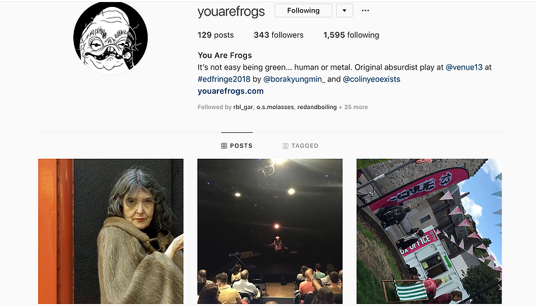 Instagram @youarefrogs