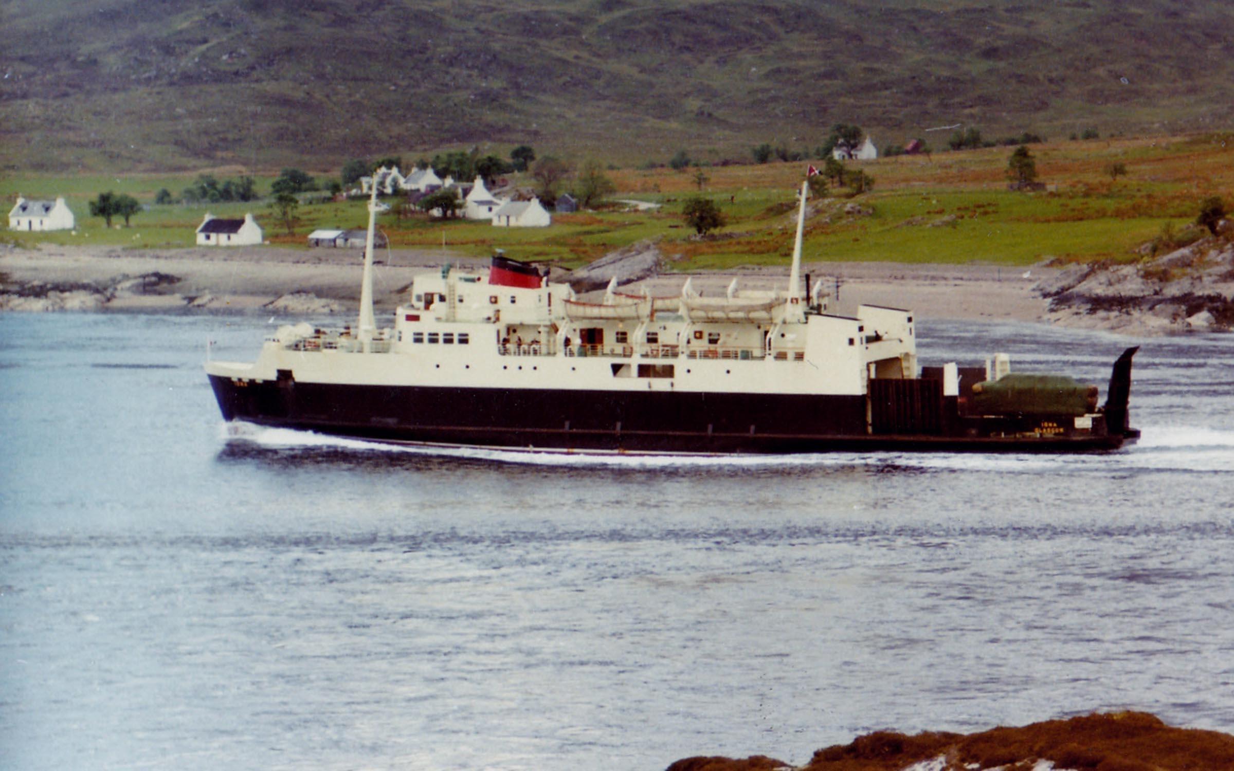 Iona passing Kylerhea (Jim AIkman Smith)